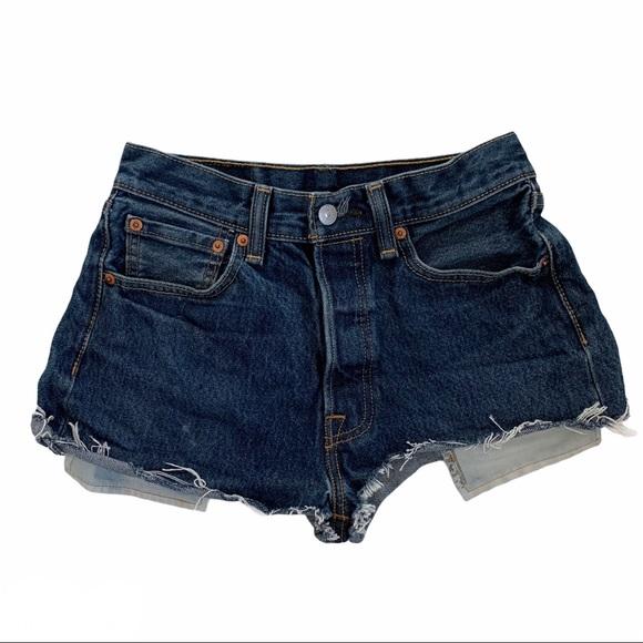 Levi's 501 Button Fly Cutoff Denim Jean Shorts